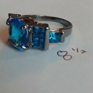 Blue gem ring
